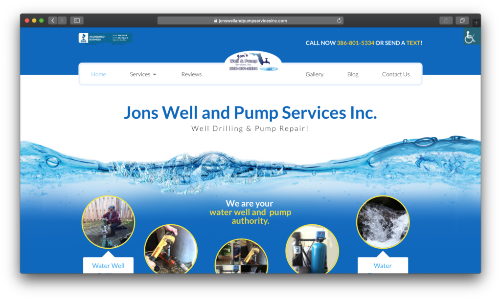 jons well and pump services Site